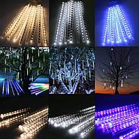 Гирлянда Тающие сосульки 80 см LED, белый, светодиодная гирлянда уличные гирлянды метеоритный дождь