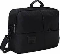 Черная сумка для ноутбука Bagland Эсперанс на 14л (30 x 42 x 11 см)