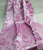 Шторная ткань с люрексом 1.5 м, цвет розовый, фото 1