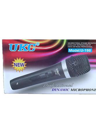 Ручной вокальный микрофон UKC DM U-198 в металлическом корпусе, фото 2
