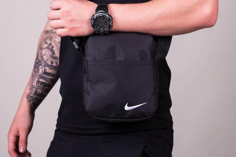 Спортивный костюм мужской Найк, Nike черный - желтый. Барсетка в Подарок, фото 2