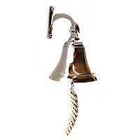 """Колокол морской корабельный рында бронзовый хром (d-12.5,h-11 см) (5"""")"""