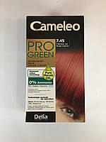 Крем-фарба Delia для волосся Pro Green з маслом Марули 7.45 Интенсивний червоний