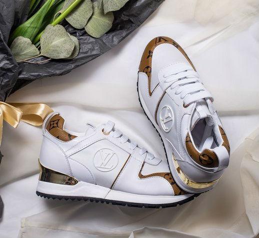 12ed7dcee4e3 Louis Vuitton Run Away White Brown | кроссовки женские; белые-коричневыве -  BOOT CLUB