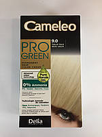 Крем-фарба Delia для волосся Pro Green з маслом Марули 9.0 Натуральний блондин