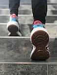 Мужские кроссовки FILA x HungryEyes Mindbreaker Black/Blue/Red . Живое фото (Реплика ААА+), фото 2