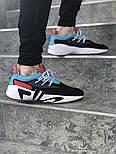 Мужские кроссовки FILA x HungryEyes Mindbreaker Black/Blue/Red . Живое фото (Реплика ААА+), фото 5
