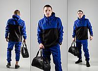 Спортивный костюм мужской Найк, Nike черный - синий. Барсетка в Подарок