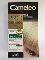 Крем-фарба Delia для волосся Pro Green з маслом Марули 9.13 Шампанський блондин