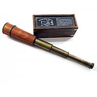 Подзорная труба в деревянном футляре (труба 42 см футляр 19х7,5х7,5 см)