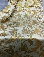 Шторна тканина з люрексом і вензелями 1.5 м ширини Опт, фото 1