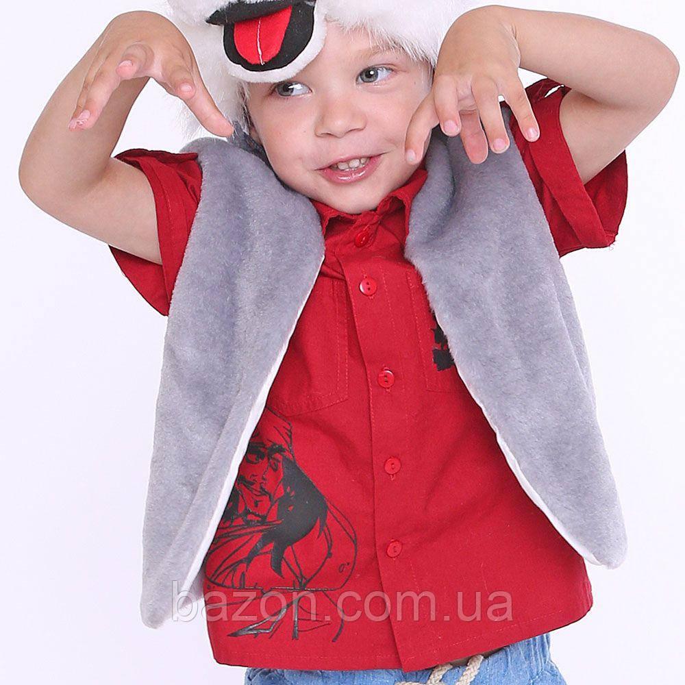 Детский маскарадный жилет 35 см серый
