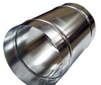 Труба 1м, нержавейка 0,8 мм,диаметр 120 мм. дымоход димохід
