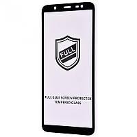 Защитное стекло 3D с полной проклейкой для Samsung Galaxy A8 Plus закаленное