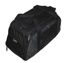 Спортивная сумка-рюкзак 30 литров 139/1 черная с серой вставкой