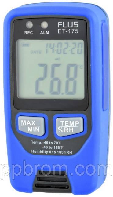 """Регистратор температуры и влажности (дата-логгер) Flus """"ET175"""""""