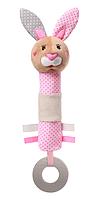 Игрушка-пищалка BabyOno Кролик, с прорезывателем