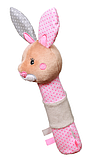 Игрушка-пищалка BabyOno Кролик, с прорезывателем, фото 2