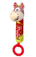Игрушка-пищалка BabyOno Лошадка, с прорезывателем