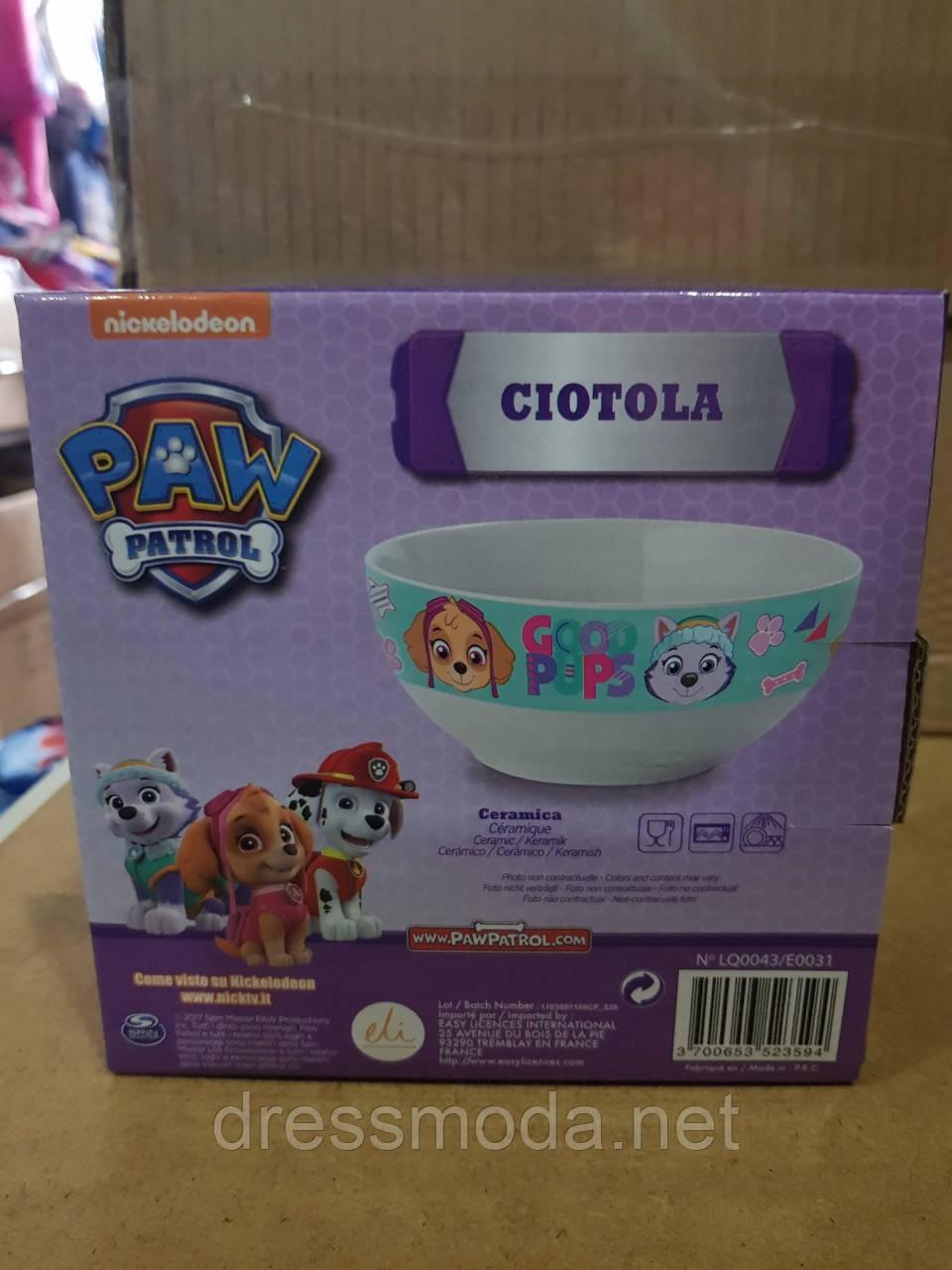 Тарелка для девочек Paw Patrol от Disney
