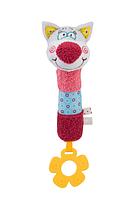 Игрушка-пищалка BabyOno Котик, с прорезывателем