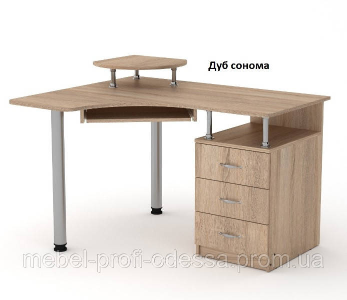 Угловой компьютерный стол СУ 2 Компанит 1200х852х1000