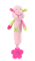 Игрушка-пищалка BabyOno Овечка, с прорезывателем