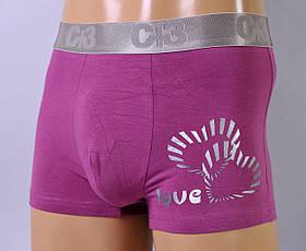 Мужские трусы - боксеры C+3 #663  XL светло фиолетовые, фото 2
