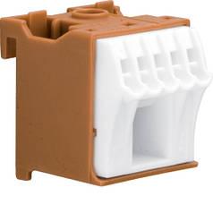 Блок PE-клемм ширина - 30мм. 1х16 мм + 5х4 мм, Hager