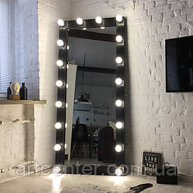 Зеркало гримерное, зеркало напольное в раме из натурального дерева