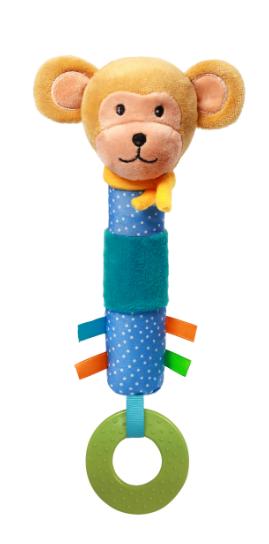 Игрушка-пищалка BabyOno Обезьянка, с прорезывателем