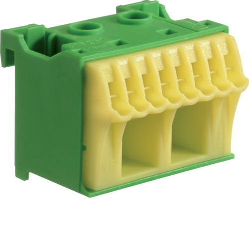 Блок PE-клемм, кол-во единиц деления - 1,5; ширина - 45 мм. 2х16 мм + 8х4 мм