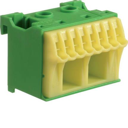Блок PE-клемм, кол-во единиц деления - 1,5; ширина - 45 мм. 2х16 мм + 8х4 мм, фото 2