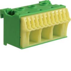 Блок PE-клемм ширина - 60 мм. 3х16 мм + 11х4 мм, Hager