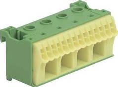 Блок PE-клемм ширина - 60 мм. 4х16 мм + 14х4 мм, Hager