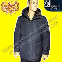 Мужская куртка отличного качества Black Vinyl 815
