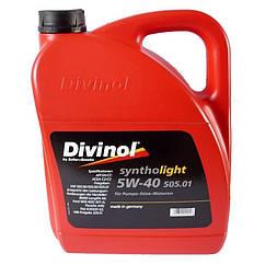 Моторное масло Divinol Syntholight 505.01 SAE 5W-40 5л 49540, КОД: 155047