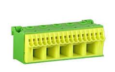 Блок PE-клем, кількість одиниць поділок - 3; ширина - 90 мм. 6х16 мм + 20х4 мм