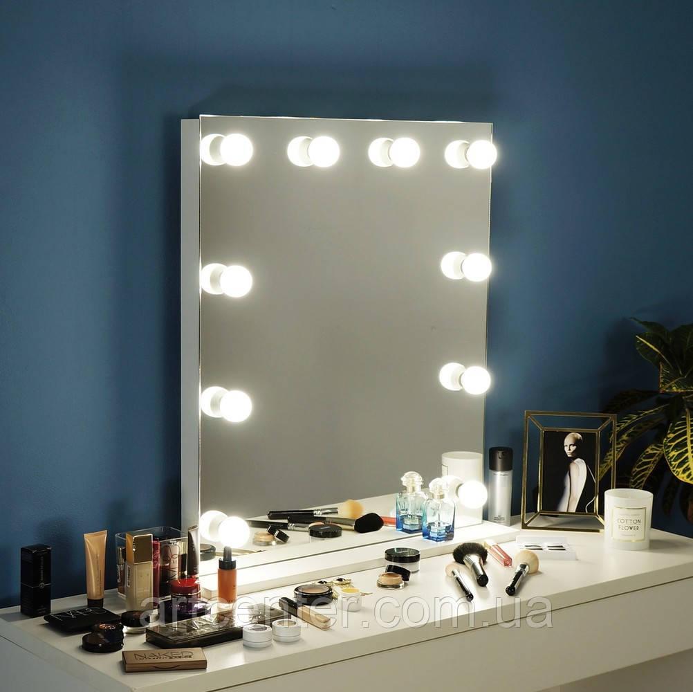 Зеркало с подсветкой, зеркало настольное на подставке