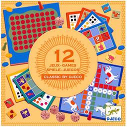 DJECO Набор классических игр 12 в 1