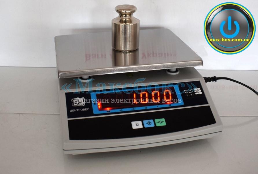Весы фасовочные 15 кг с поверкой – ВТЕ 15 Т3 ДВ Центровес