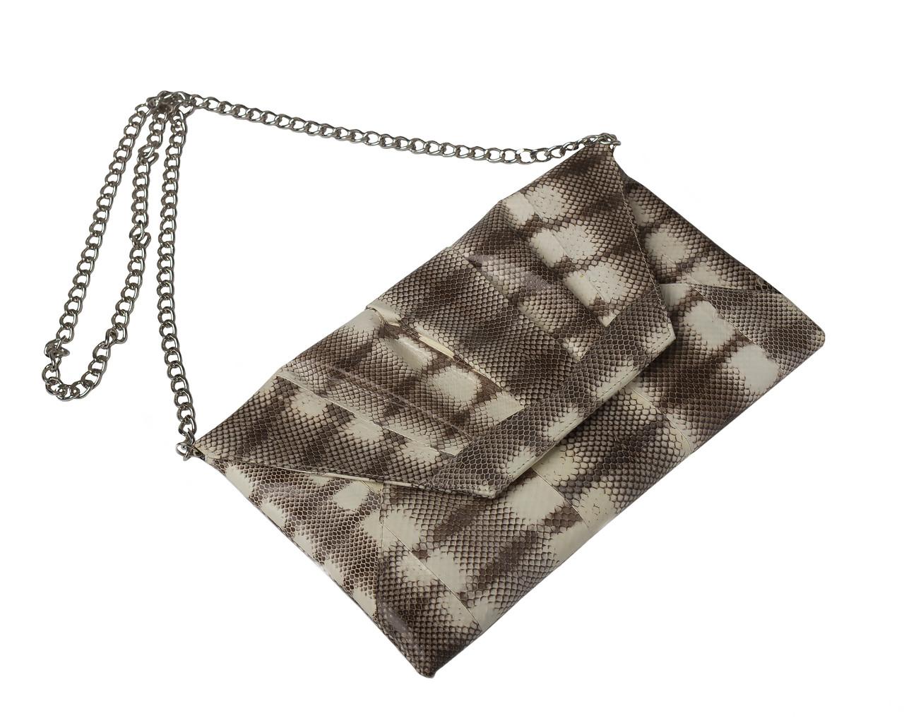 Клатч из кожи морской змеи  Ekzotic Leather Серый (snc 08_2), фото 1