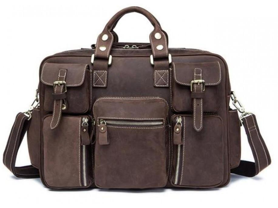 Дорожная сумка из натуральной кожи TIDING BAG 7028B