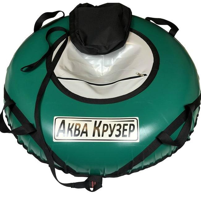 Тюбінг Аква Крузер D=100 см - Надувні санки ватрушки для катання з гірок, зелено сірий