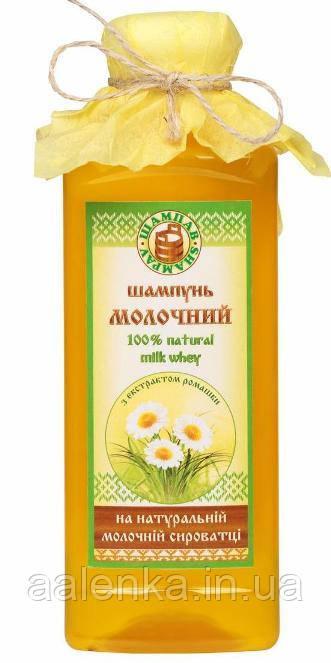 Шампунь для волос на молочной сыворотке с экстрактом ромашки, 380гр, Шампав