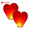 Небесный фонарик 2D Сердце