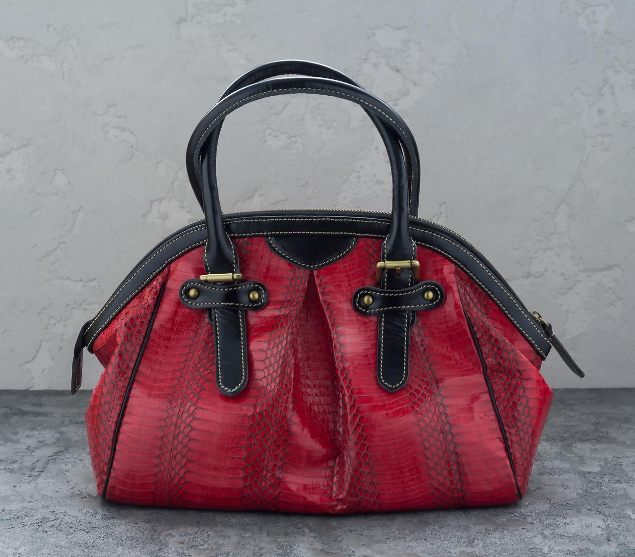 Сумка из кожи кобры  Ekzotic Leather Красная (snc 06)
