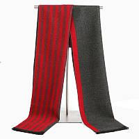 Зимний шарф мужской двусторонний серый