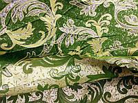 Ткань с люрексом 1.5 м ширины, зелень/золото, фото 1