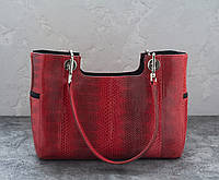 Сумка из кожи морской змеи  Ekzotic Leather Красная (snc 07), фото 1